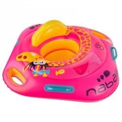 """Bouée siège bébé rose """"GIGI"""" avec hublot et poignées pour l'enfant de 11 à 15kg"""