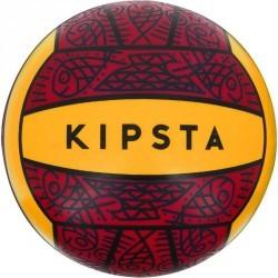 Ballon de beach-volley extérieur BV100 rouge jaune