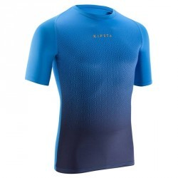 Sous maillot respirant manches courtes adulte Keepdry 100 bleu