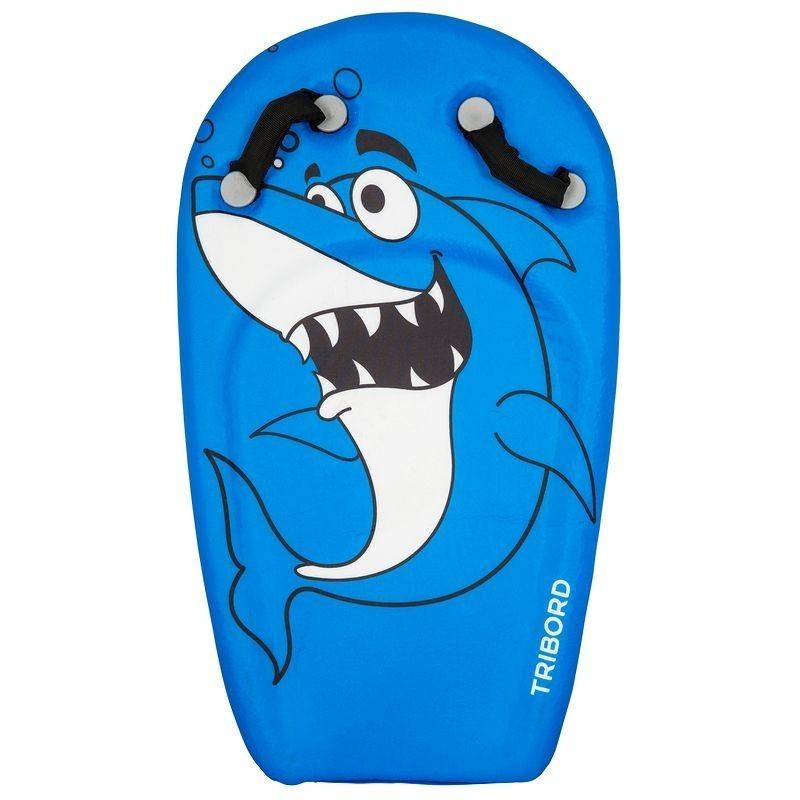 Bodyboard enfant à poignées BODYATU bleu shark