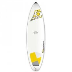 """Planche de surf Bic 6'7"""" avec pad sous le pied arrière."""