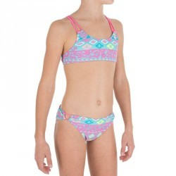 Maillot 2 pièces fille brassière G NAVAO FLUO rose