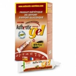 Boite de 6 gels de 25gr énergétiques Authentic Nutrition, arôme pêche