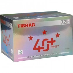BALLE DE TENNIS DE TABLE TIBHAR 3* 40+ SYNTT X 72