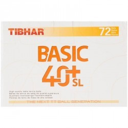 BALLE DE TENNIS DE TABLE TIBHAR BASIC 40+ SL X72