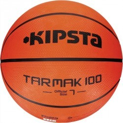 Ballon basketball adulte Tarmak 100 taille 7 orange