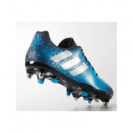 Chaussures rugby terrains gras 6 crampons mixte Malice SG bleues
