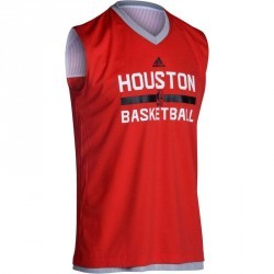 Maillot basketball adulte NBA Rockets reversible rouge gris