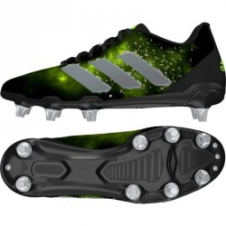 Chaussures rugby terrains gras 8 crampons Adidas Regulate Kakari SG noir vert