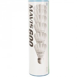VOLANTS DE BADMINTON MAVIS 600 BLANC LOT DE 6