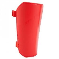 Protège-tibias de football F100 enfant rouge