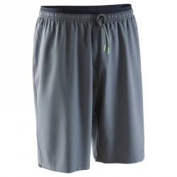 Short de football adulte F500 gris noir