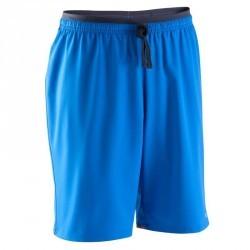 Short de football enfant F500 bleu clair bleu marine