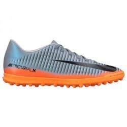 Chaussures de football enfant Mercurial Vortex CR7 TF grise claire
