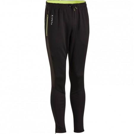 Pantalon d'entraînement de football adulte TP500 noir vert