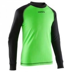 Maillot de gardien de football enfant F300 vert noir