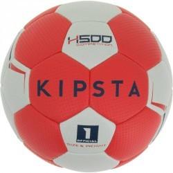 Ballon de handball enfant hybride H500 Taille 1 rouge et gris