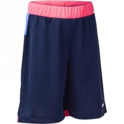 Short de Basketball enfant B500 rose bleu