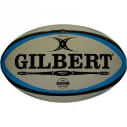 Ballon rugby Omega taille 5 bleu noir
