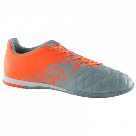 Chaussure de futsal adulte Agility 500 sala grise et orange