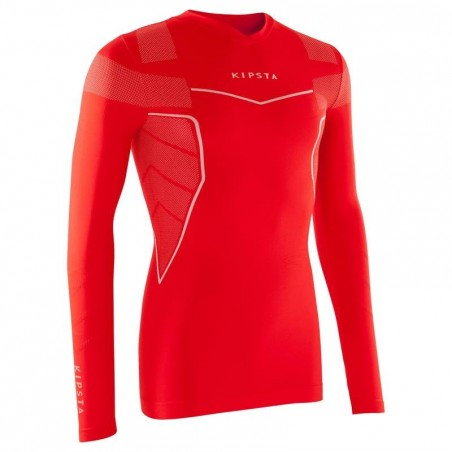 Sous maillot respirant manches longues adulte Keepdry 500 rouge