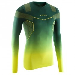 Sous maillot respirant manches longues adulte Keepdry 500 vert