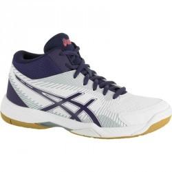 Chaussures de volley-ball femme Asics Gel Task blanches et bleues