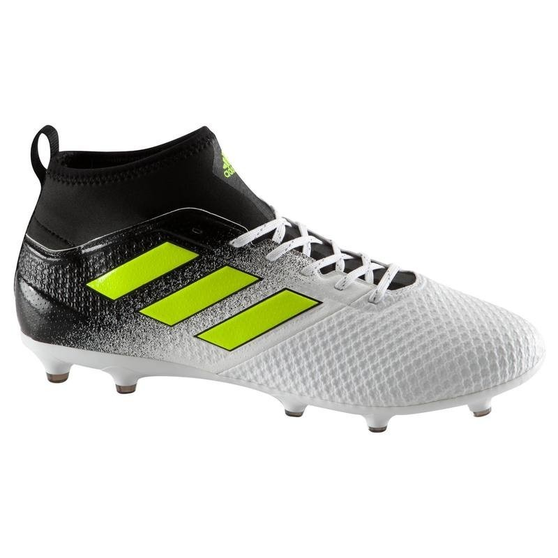 finest selection 4f407 3c8cf Chaussure de football adulte Ace 17.3 FG blanche noire jaune