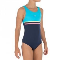 Maillot de bain de natation fille une pièce Loran bleu