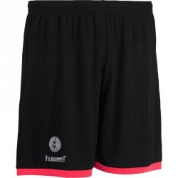 Short de handball Hummel Campaign homme noir, rose, chevrons argent 2017