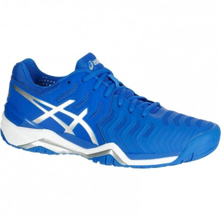 CHAUSSURES DE TENNIS HOMME GEL RESOLUTION 7 BLEU ELECTRIC
