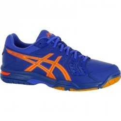 Chaussures de handball adulte Asics Gel Squad bleu et orange 2017/2018