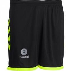 Short de handball Hummel Campaign homme noir et jaune 2017