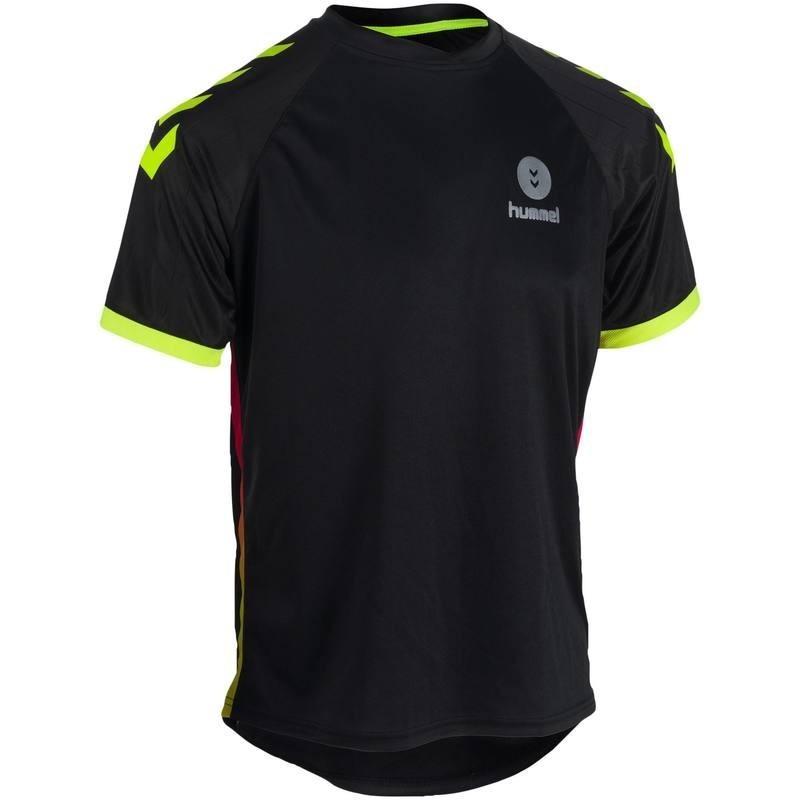Maillot de handball Hummel Campaign homme noir/jaune, chevrons jaune 2017