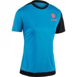 Maillot de handball Hummel Campaign femme bleu/noir, chevron rose 2017