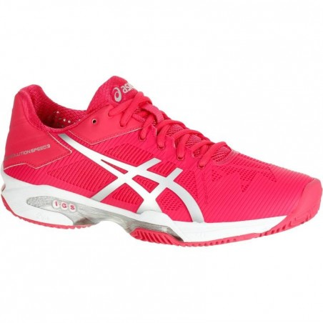 CHAUSSURES DE TENNIS FEMME GEL SOLUTION SPEED 5 TERRE BATTUE ROSE