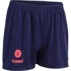 Short de handball Hummel Campaign femme marine, chevrons rose 2017