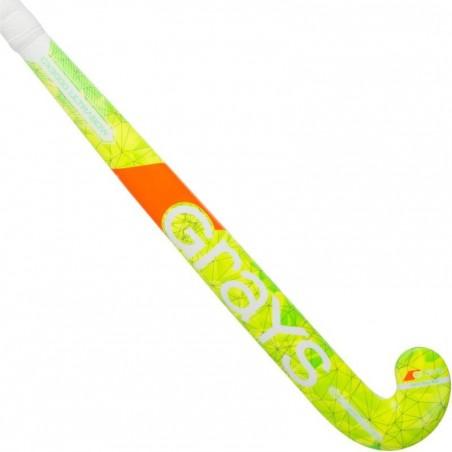 Crosse de hockey sur gazon en fibreglass et carbone adulte GX3000 jaune