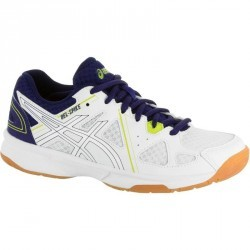 Chaussures de volley-ball Junior Asics Gel Spike blanches et bleues