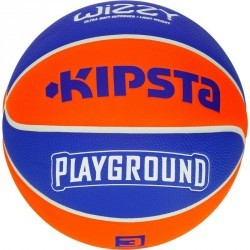 Ballon de Basketball enfant Wizzy taille 5 Playground bleu orange