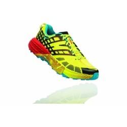 Chaussures de Trail Hoka One One Speedgoat 2 Bleu / Jaune / Rouge