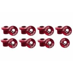 A2Z vis plateau x 5 anodisées RED + vis petit plateau