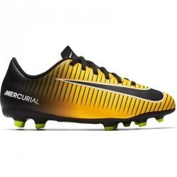 Chaussure de football enfant Mercurial Vortex FG orange