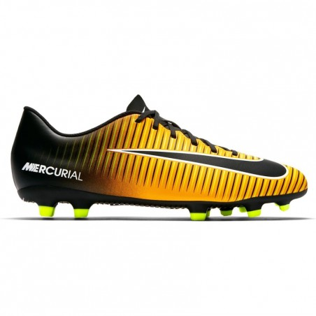 Chaussure de football adulte Mercurial Vortex FG orange