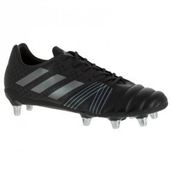 Chaussure de rugby adulte terrains gras 8 crampons Kakari SG noire