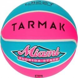 Ballon de Basketball enfant Wizzy taille 5 Miami rose turquoise