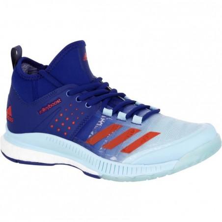 Chaussures de volley-ball femme Adidas Boost Crazyfligh bleues