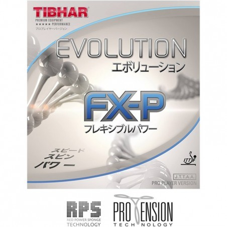 Revêtement Tennis de Table Evolution FX-P Rouge et Noir