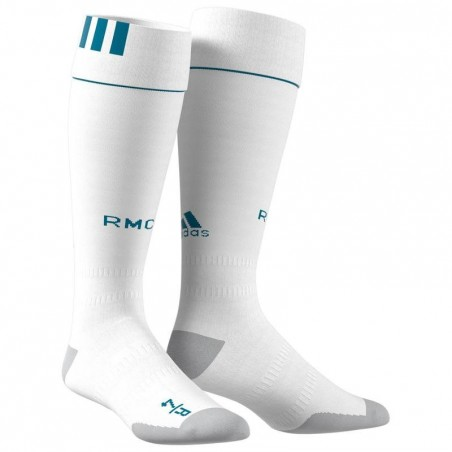 Chaussettes de football adulte Real Madrid  blanches