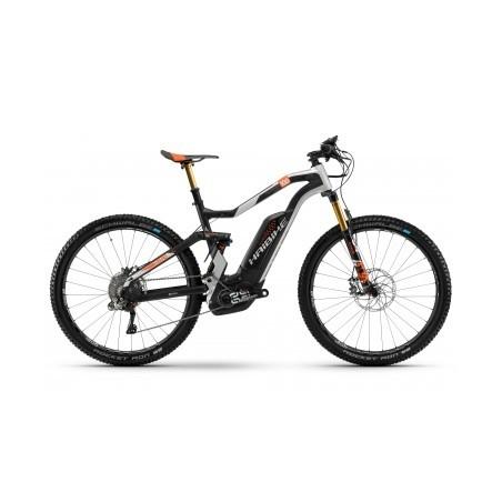 VTT Electrique Haibike Xduro FullSeven Carbon 10.0 27.5´´ Shimano XTR Di2 11 Vitesses 2018 Noir/Orange